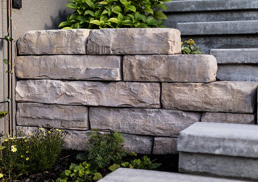 Wall created by Waterwise Design landscape services